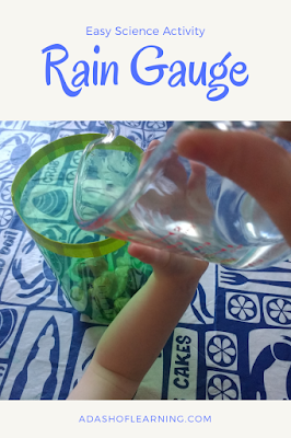 rain gauge: easy science activity