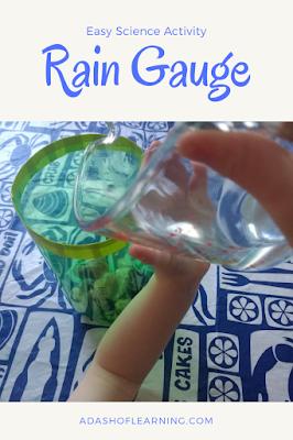 rain gauge: easy science activity