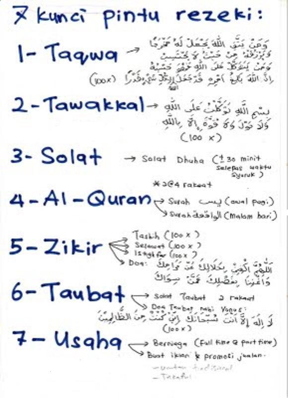 7 Kunci Pintu Rezeki