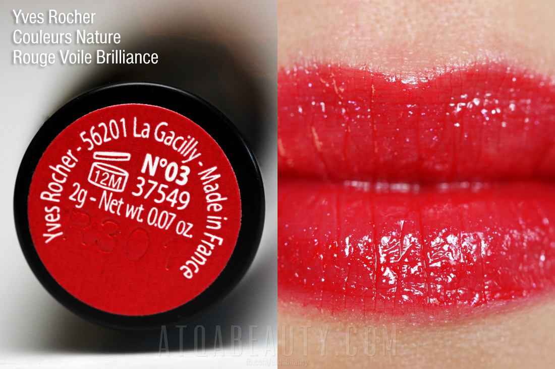 Yves Rocher • Couleurs Nature •  Rouge Voile Brilliance • 03
