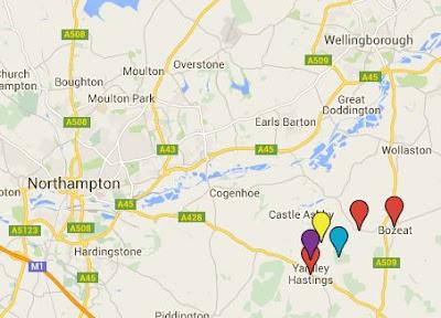 Google Map showing location of GANDER sites
