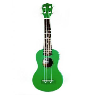 dan ukulele mau xanh la cay