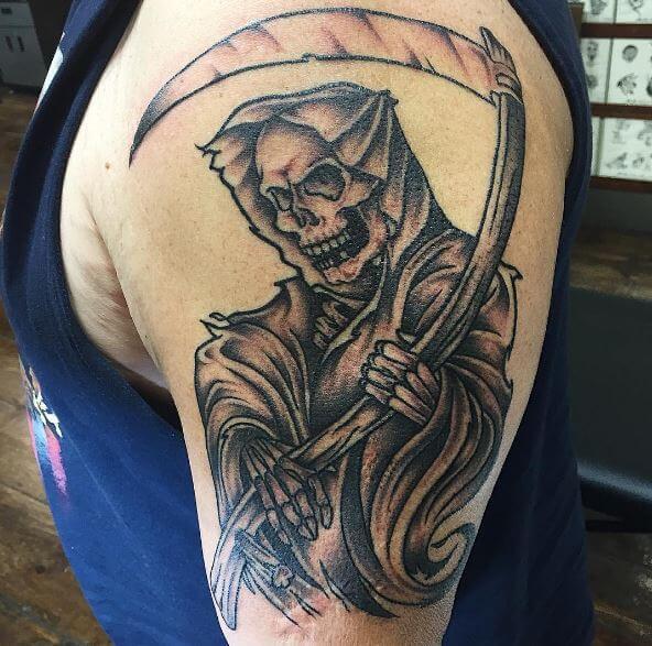 Tattoo Designs Grim Reaper: 50 Cool Grim Reaper Tattoo Designs & Ideas (2018