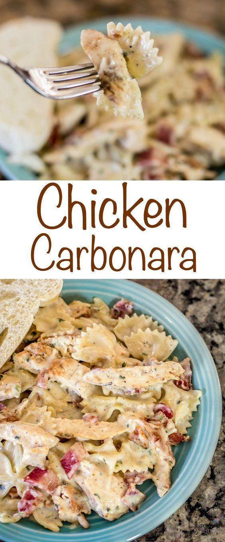 SENSATIONAL CHICKEN CARBONARA RECIPE #chicken #chickenrecipes #chickencarbonara #easyrecipes #carbonararecipes