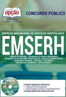 Apostila EMSERH todos os cargos concurso 2016.