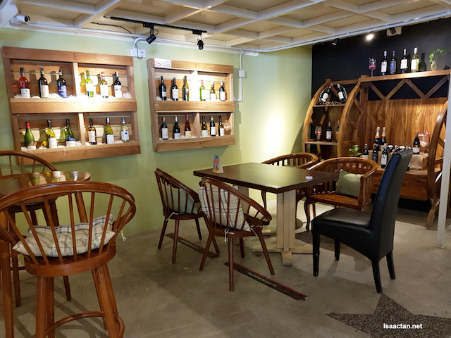 The wine section