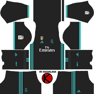 Real Madrid away Kits 2017/2018 - Dream League Soccer