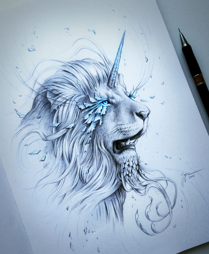 14-Lion-Jonas-Jödicke-jojoesart-Fantasy-Animal-Drawings-with-Souls-of-Nature-www-designstack-co