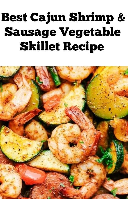 Cajun Shrimp and Sausage Vegetable Skillet Recipe | Dinner Recipes Easy, Dinner Recipes For Family, Dinner Recipes Vegan, Dinner Recipes Cheap,  Dinner Recipes Sausage #shrimp #vegetable #dinner #dinnerrecipe #skillet #shrimprecipe