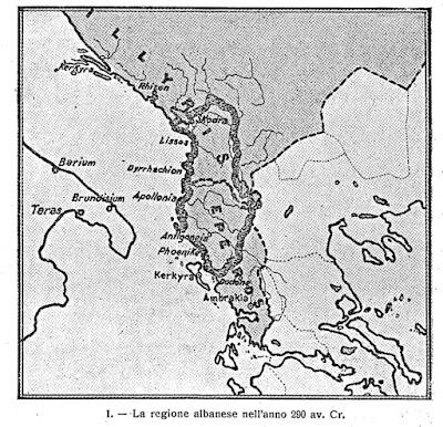 La regione albanese 2300 anni fa