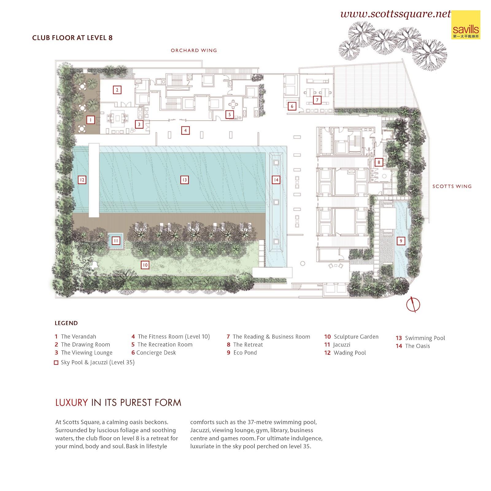 Scotts Square Singapore: Site Plan And Floor Plan