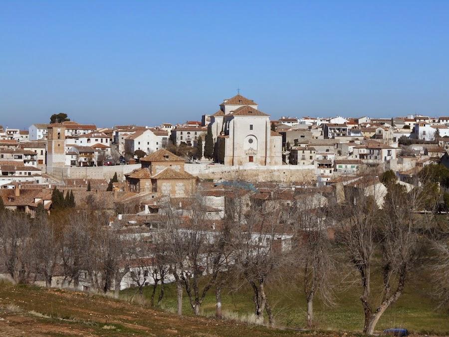 Vista de Chinchón, desde la esplanada del Castillo de Chinchón