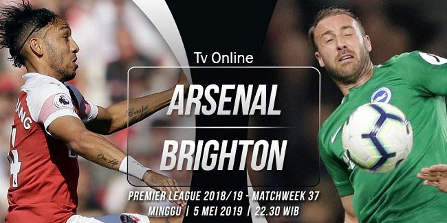 live streaming liga inggris arsenal vs brighton 5 mei 2019