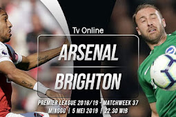 Live Streaming Liga Inggris Arsenal vs Brighton 5 Mei 2019