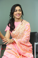Actress Ritu Varma Pos in Beautiful Pink Anarkali Dress at at Keshava Movie Interview .COM 0230.JPG