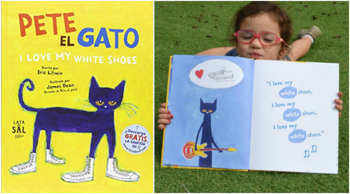 cuentos imprescindibles, pete el gato i love my white shoes lata de sal