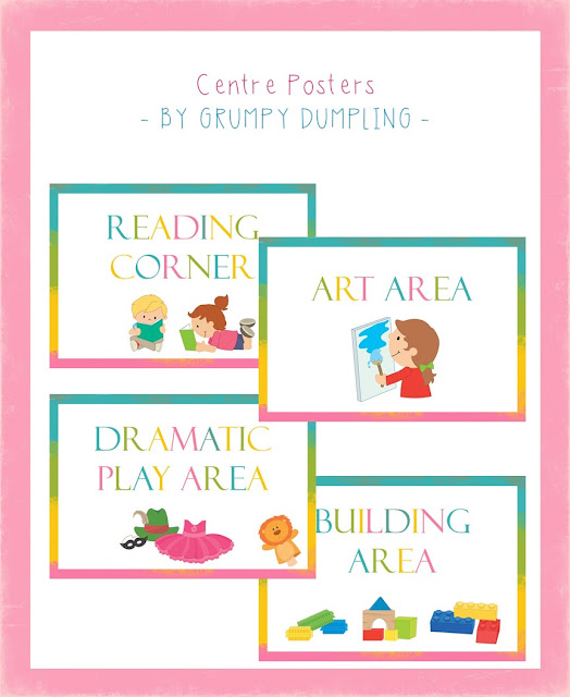 https://www.teacherspayteachers.com/Product/Centre-Posters-Art-Area-Building-Area-Reading-Corner-Dramatic-Play-Area-3649042