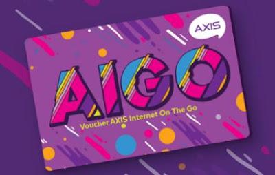 Cara menggunakan voucher AIGO Axis