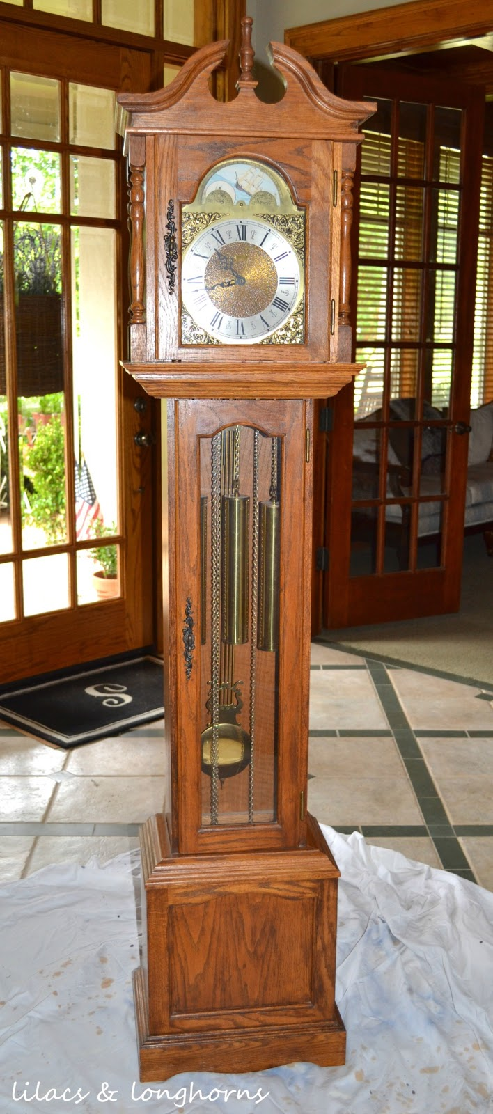 A Grandfather Clock Makeover And Little History