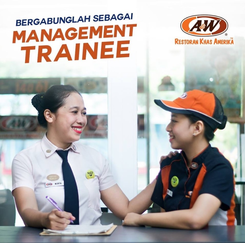 A&W Restaurant Indonesia Buka Lowongan Management Trainee Untuk Lulusan D3 - S1 Dibuka Mulai 9 Mei 2018