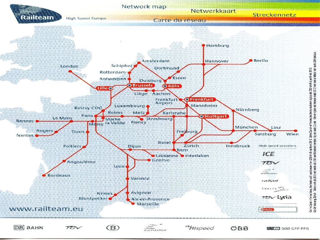 high speed rail europe map