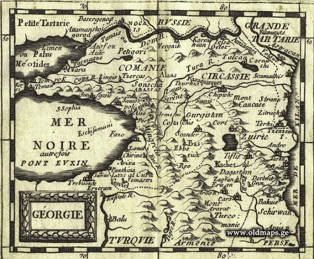 Pierre Duval Пьер Дювал, исторические карты Карачая и Балкарии