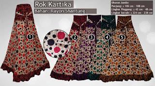 Rok batik model payung murah dan modern ukuran jumbo