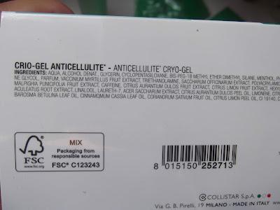 Collistar Special Perfect Body chladivý gél proti celulitíde zloženie