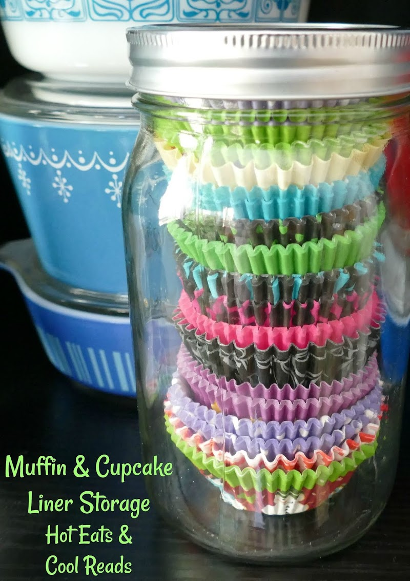 Muffin and Cupcake Liner Storage Hot Eats and Cool Reads