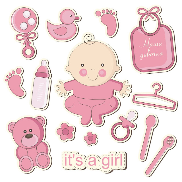 Nice It´s a Girl! Free Printable Cake Toppers.