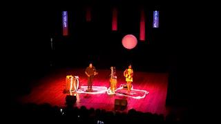 No palco do Plínio Marcos, Adriana Sanchez e Bosco Fonseca