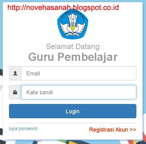 formulir registrasi akun Guru Pembelajar Kemdikbud pada cara registrasi dan login guru pembelajar online kemdikbud 7