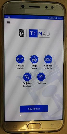 Se podrá reclamar objetos perdidos en la app del taxi TXMAD y la web