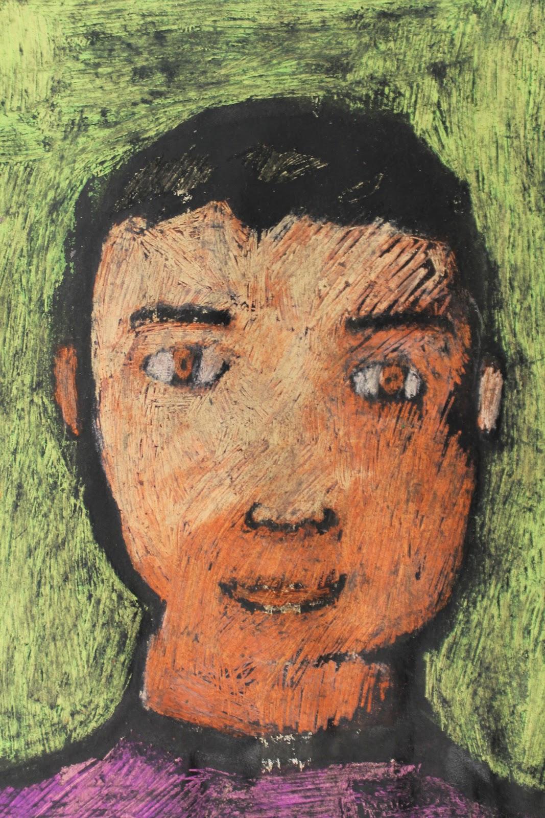 The Elemental Art Room 6th Grade Self Portraits Or Quot Bob