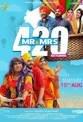 Poster Mr & Mrs 420 Returns 2018 Punjabi Movie HD 720p