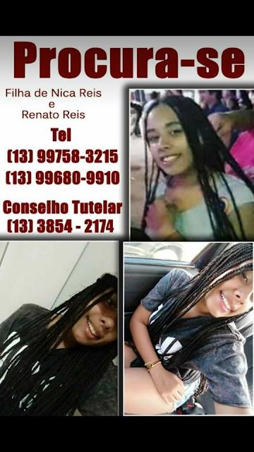 Rafaela Reis esta desaparecida desde 04/05