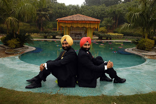 Malvinder Mohan Singh, left, and his brother Shivinder Mohan Singh at their residence in Gurgaon on Dec. 31, 2003.