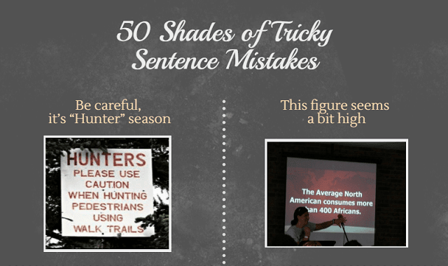 50 Shades of Tricky Sentence Mistakes