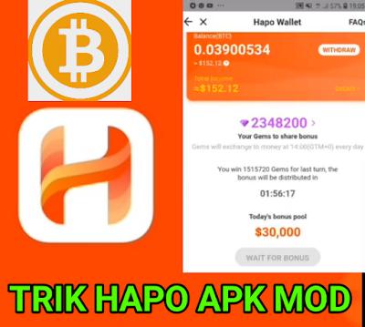 Trik Mudah cara mendapatkan 2.000.000 Gams/permata di aplikasi Hapo Mod . tutorial hack Hapo Mod 2019
