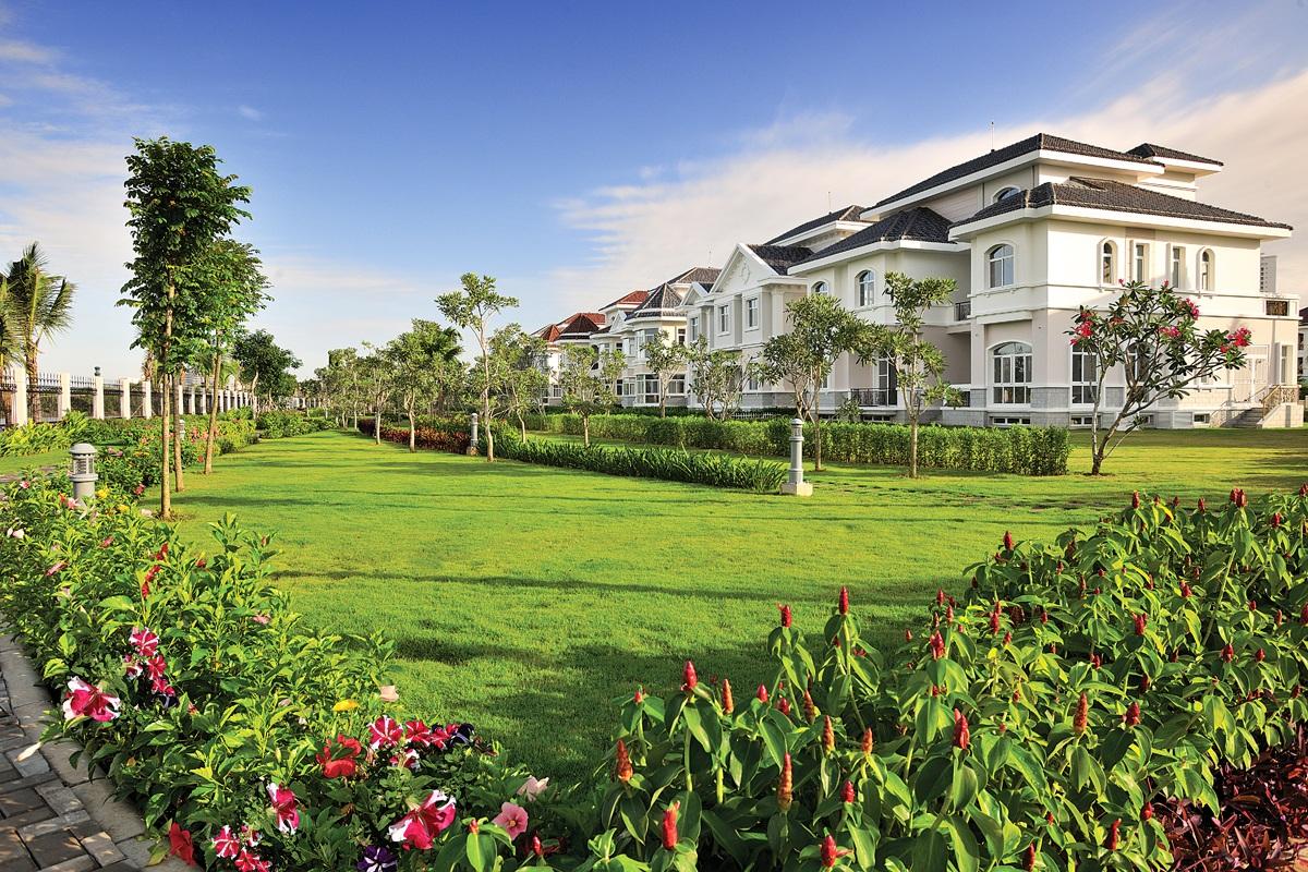 Không gian xanh toàn vẹn tại khu đô thị, biệt thự Dương Nội.