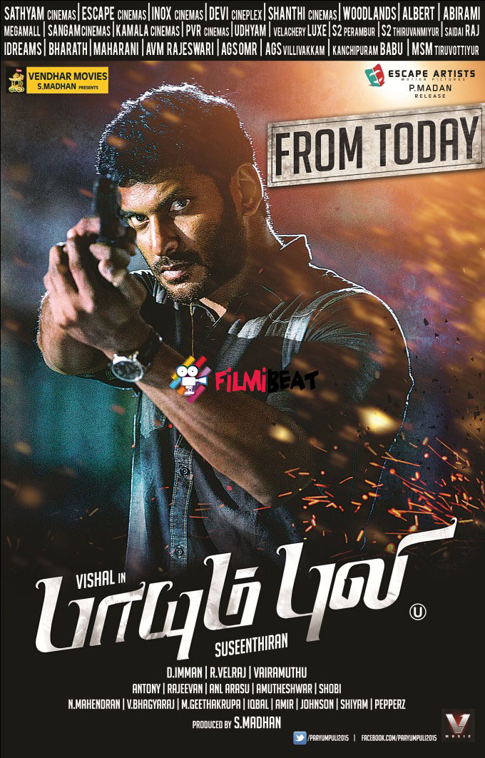 Paayum Puli 2015 Dual Audio Hindi 400MB UNCUT HDRip 480p x264 ESubs