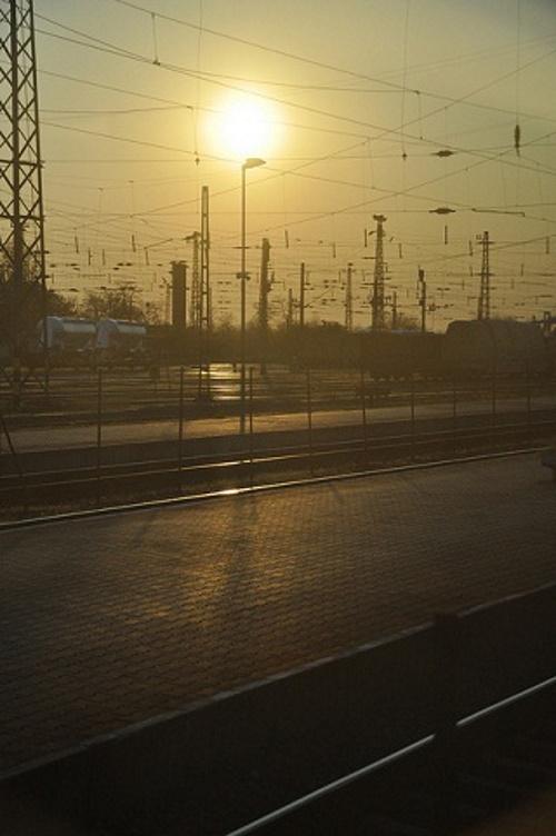 Trem ao sol.