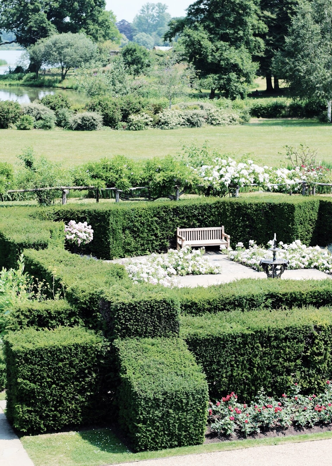 Beautiful gardens at Hever Castle in summer