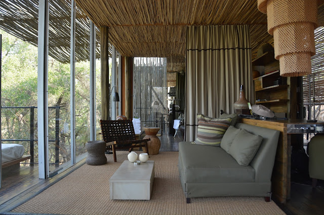 Singita Sweni South Africa hotel resort Kruger National Park living room
