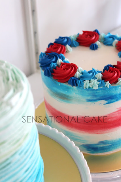 The Sensational Cakes Watercolor Drip Red Blue Theme