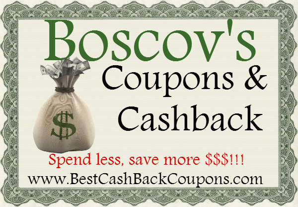 Boscov's Cashback & Coupons 2016-2017 May, June, July, August, September, October, November, December