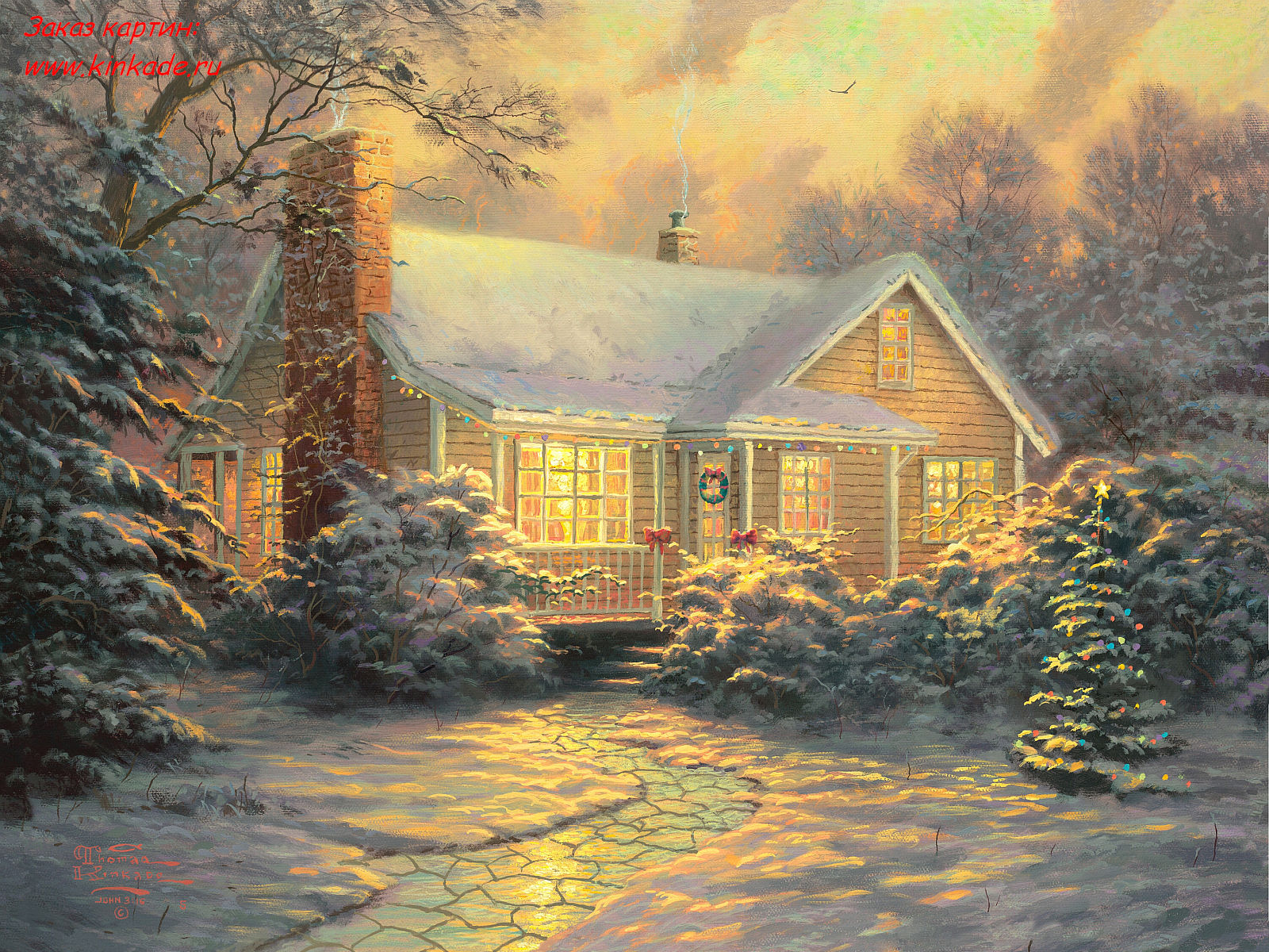 Simbolog as thomas kinkade for Pinturas navidenas