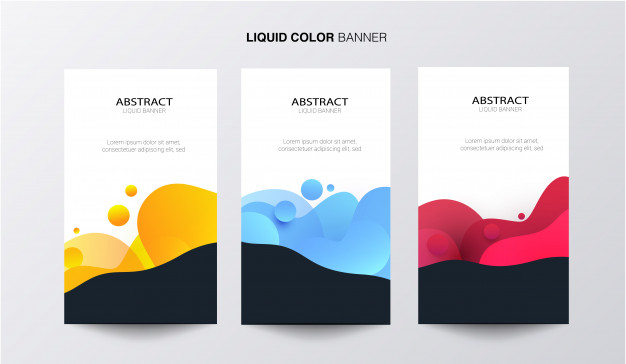 Liquid color business banner Free Vector