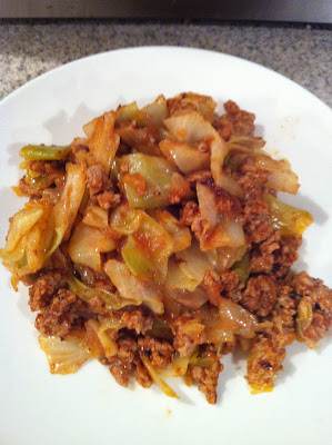 Unstuffed cabbage is great to eat if you're on the Ideal Protein diet