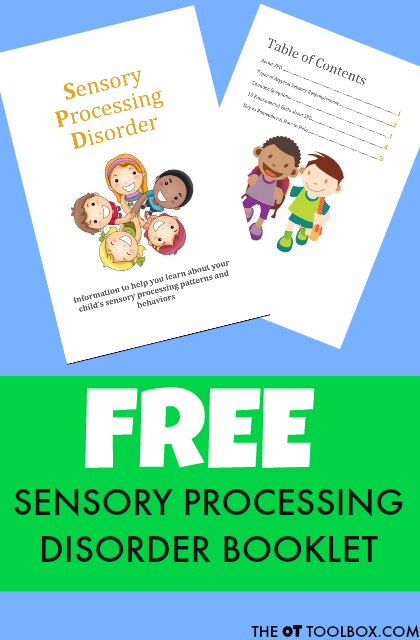 Sensory processing disorder free printable packet of information on SPD